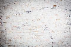 Vit grungetegelstenvägg Arkivfoto