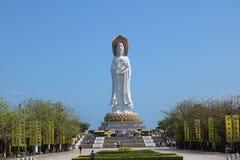 Vit Guanyin staty arkivfoton