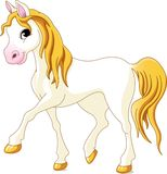 Vit häst stock illustrationer