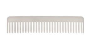 Vit hårkam som isoleras på vit Royaltyfri Fotografi