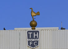 Vit Hart Lane - Tottenham Hotspur stadion arkivbild