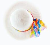 Vit hatt Fotografering för Bildbyråer
