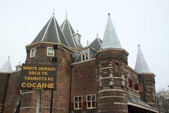 Vit heroin som säljs till turisten som kokain Arkivfoto