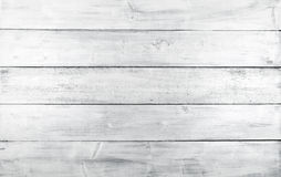 Vit horisontalträplankatextur Royaltyfria Foton