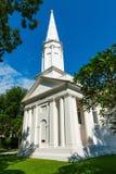 Vit hristian kyrka Royaltyfri Fotografi