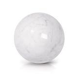 Vit illustration för marmorboll 3D Royaltyfria Foton