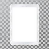 Vit illustration för minnestavlaPCvektor med den tomma skärmen vektor illustrationer