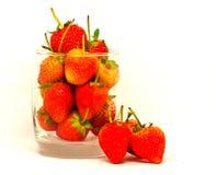 Vit isolat för jordgubbe Fotografering för Bildbyråer