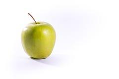 Vit isolat farmorSmith Green Bright Apple Fruit för sund mat Royaltyfria Bilder