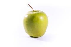 Vit isolat farmorSmith Green Bright Apple Fruit för sund mat Arkivfoton