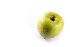 Vit isolat farmorSmith Green Bright Apple Fruit för sund mat Royaltyfri Foto