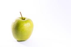Vit isolat farmorSmith Green Bright Apple Fruit för sund mat Royaltyfria Foton