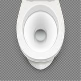 Vit isolerad modellillustration för toalett Toalett i rent badrum Hem- hygien för vektor vektor illustrationer