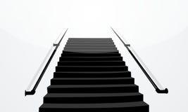 vit isolerad trappa för bakgrund svart illustration stock illustrationer