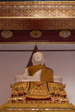Vit jade som snider buddha Royaltyfri Foto