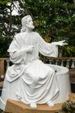 Vit Jesus staty Fotografering för Bildbyråer