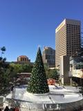 Vit jul i i stadens centrum Phoenix, AZ Royaltyfria Foton