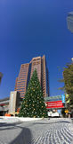 Vit jul i i stadens centrum Phoenix, AZ Fotografering för Bildbyråer