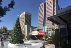 Vit jul i i stadens centrum Phoenix, AZ Royaltyfri Foto