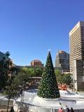 Vit jul i i stadens centrum Phoenix, AZ Arkivfoton