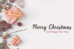 Vit jul och special gåva royaltyfri fotografi