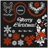 Vit jul planlägger beståndsdelvektorbild arkivfoto
