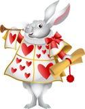 Vit kaninhärold royaltyfri illustrationer