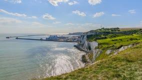 Vit klippa av Dover, Förenade kungariket Arkivfoto