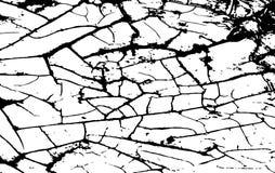 Vit knäcka textur Grungehorisontalbakgrund Modell med sprickor vektor Arkivfoton