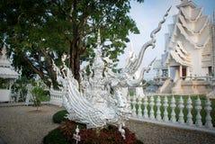 Vit konst Thailand för staty Royaltyfria Bilder