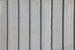 Vit konstruktion galvaniserat järn Arkivfoto