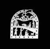 Vit konturlathund Royaltyfria Bilder