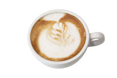 Vit kopp av cappuccino Fotografering för Bildbyråer