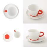 Vit kopp av kaffe Arkivfoto
