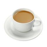 Vit kopp av kaffe Arkivbilder