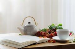 Vit kopp av teet Fotografering för Bildbyråer