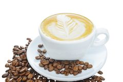 Vit kopp kaffe royaltyfri fotografi