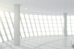 Vit korridor för affärsmitt Fotografering för Bildbyråer