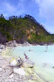 Vit krater sjö Royaltyfri Fotografi