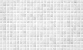 Vit kvadrerad mosaik Royaltyfri Fotografi
