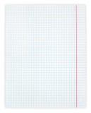 Vit kvadrerat pappers- ark Fotografering för Bildbyråer