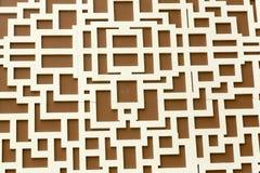 Vit labyrint Royaltyfria Foton