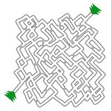 Vit labyrint Royaltyfria Bilder