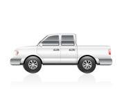 Vit lastbil Arkivbild
