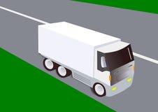Vit lastbillast Arkivfoto