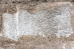 Vit leratextur för murbruk Royaltyfri Bild