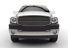 Vit leveranslastbil för kommersiellt medel med en dubbel taxi och en skåpbil vektor illustrationer