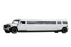 Vit limousine Arkivfoto
