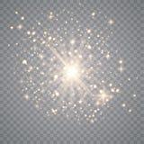 Vit ljus explosioneffekt vektor illustrationer