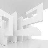 Vit lokal med fönstret vektor illustrationer